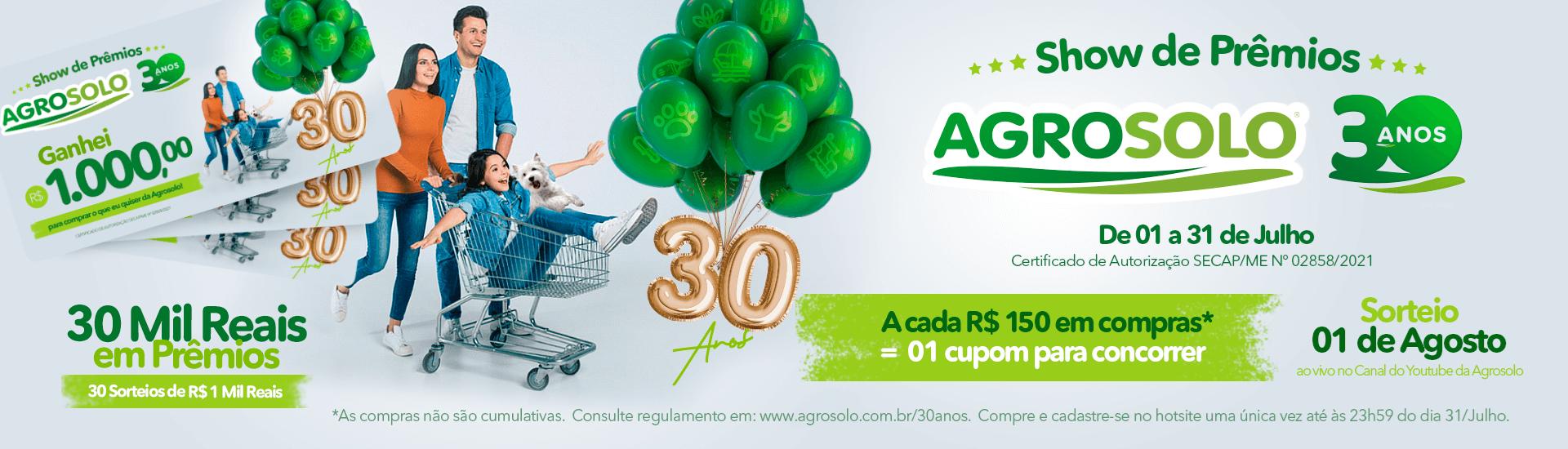 Show de Prêmios Agrosolo 30 anos