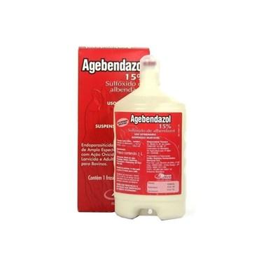Agebendazol 15% - Sulfóxido de Albendazol Agener União Uso Veterinário 1 litro