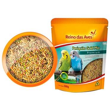 Alimento para Periquito Gold Mix 500g - REINO DAS AVES