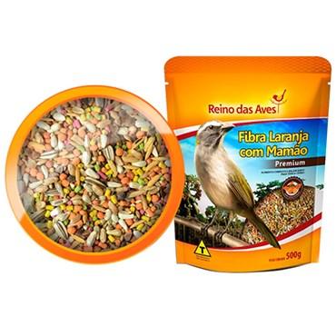 Alimento para Trinca - Ferro com Fibra Laranja com Mamão Reino das Aves 500g
