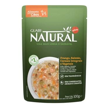 Alimento Úmido Guabi Natural Sachê Cães Adultos Frango, Salmão, Cereais e Vegetais 100g