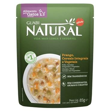 Alimento Úmido Guabi Natural Sachê Gatos Castrados Frango, Cereais e Vegetais 85g