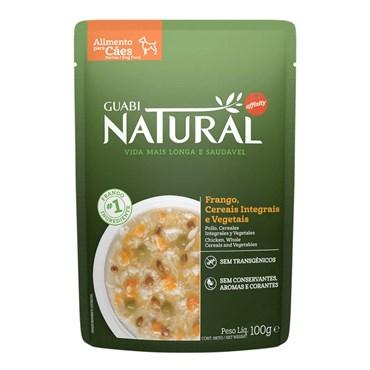 Alimento Úmido Guabi Natural Sachê Sabor Frango, Cereais e Vegetais para Cães Adultos 100g