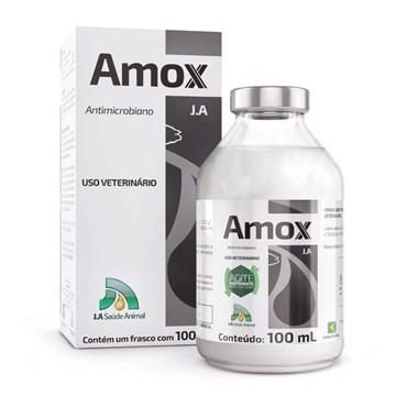 Amox J.A Antimicrobiano Amoxicilina Tri-Hidratada 100ml - J.A Saúde Animal