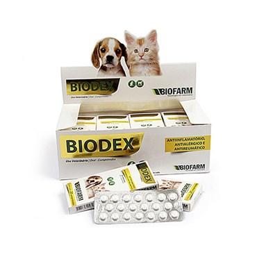 Anti-inflamatório, Antipruriginoso e Antirreumático Biodex para Cães e Gatos com 20 Comprimidos