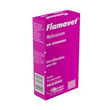 Anti-inflamatório Flamavet (Meloxicam) 0,2mg com 10 Comprimidos