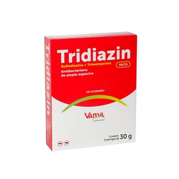 Antibacteriano de Amplo Espectro Tridiazin Pasta Seringa 30g