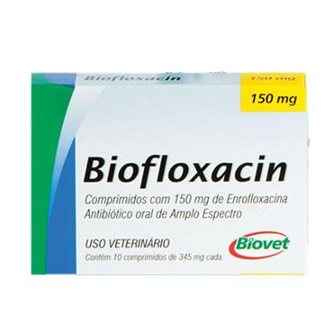 Antibiótico Biofloxacin Oral de Amplo Espectro à Base de Enrofloxacina com 10 Comprimidos 50 mg