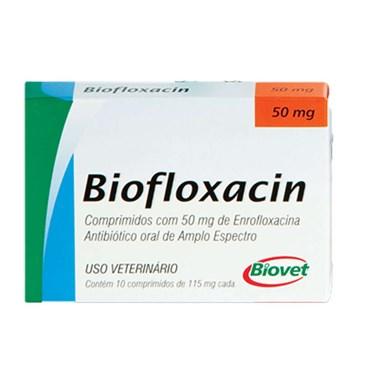 Antibiótico Biofloxacin Oral de Amplo Espectro à Base de Enrofloxacina com 10 Comprimidos