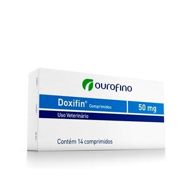 Antibiótico Doxifin (Doxiclina) para Cães e Gatos Cartela com 14 comprimidos