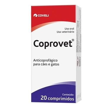 Anticoprofágico Coprovet com 20 Comprimidos para Cães e Gatos - Coveli