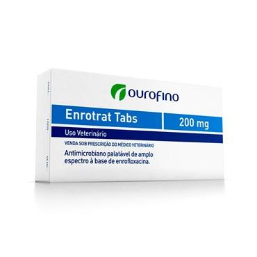 Antimicrobiano Enrotrat Tabs Palatável para Cães e Gatos 200 mg Cartela com 5 Comprimidos