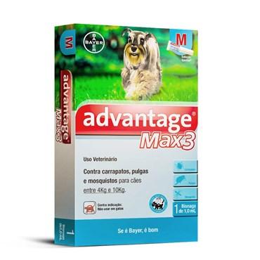 Antiparasitário Advantage Max-3 M para Cães de 04 a 10 kg (1,0 ml)