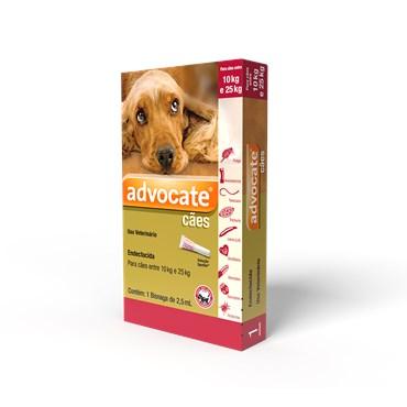 Antiparasitário Advocate Para Cães 10 a 25kg (2,5 ml)