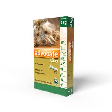Antiparasitário Advocate Para Cães de 0 a 4 kg (0,4 ml)