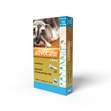 Antiparasitário Advocate Para Cães de 4 a 10kg (1,0 ml)