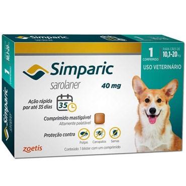 Antiparasitário Simparic para Cães de 10,1 a 20Kg