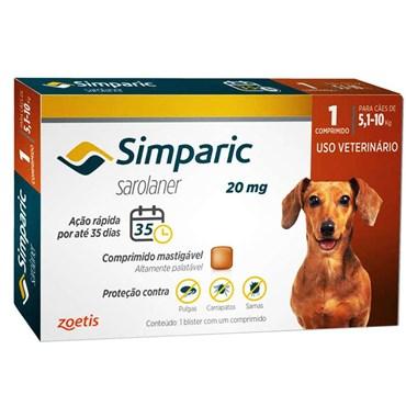Antiparasitário Simparic para Cães de 5,1 a 10Kg
