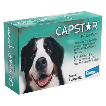 Antipulgas Capstar 57 Mg Para Cães - 1 Comprimido