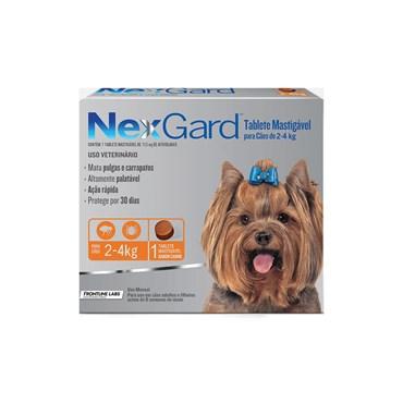 Antipulgas e Carrapatos NexGard Para Cães de 2 a 4 Kg  com 1 Comprimido