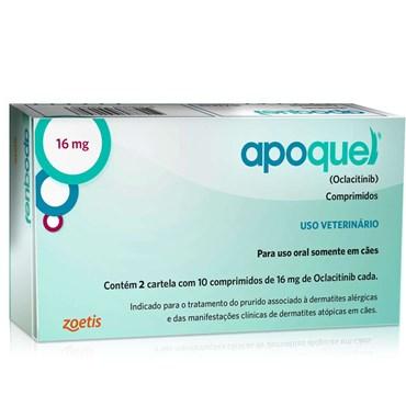 Apoquel Dermatológico 16 Mg Cães - 20 Tablets