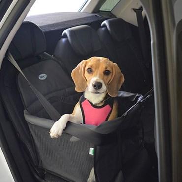 Assento Transpet Big Para Transporte de Cães e Gatos Até 15kg Preto e Vermelho - Tubline