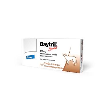 Baytril Flavour 150 mg com 10 Comprimidos - Bayer