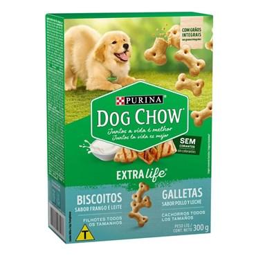 Biscoito Dog Chow Carinhos Integral para  Cães Filhotes sabor Frango e Leite 300g