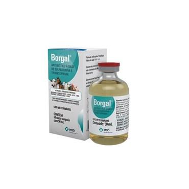 Borgal Antibacteriano Para Equinos e Bovinos 50ml - MSD