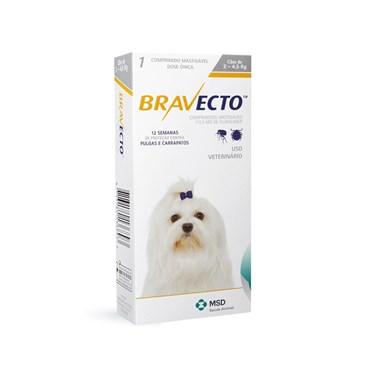 Bravecto Antipulgas e Carrapatos Cães de Até 4,5 kg - 1 Comprimido 112,5mg