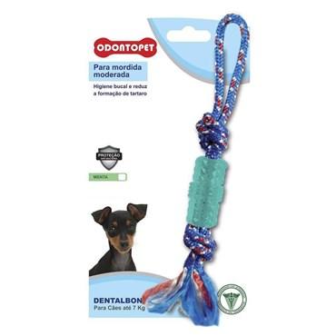 Brinquedo Dental Bone Tubo Corda Para Cães de Até 7kg - Odontopet