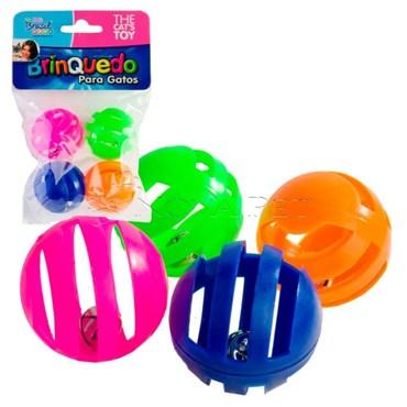 Brinquedo para Gatos Bolinhas coloridas com guizo 4 unidades - THE PETS