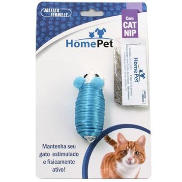 Brinquedo para gatos Ratinho com Catnip cor Azul - HOME PET