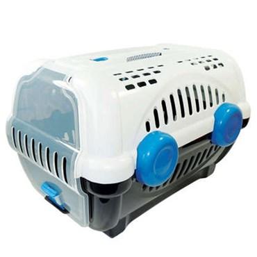 Caixa de Transporte Luxo Número 3 Branca e Azul - Furacão Pet