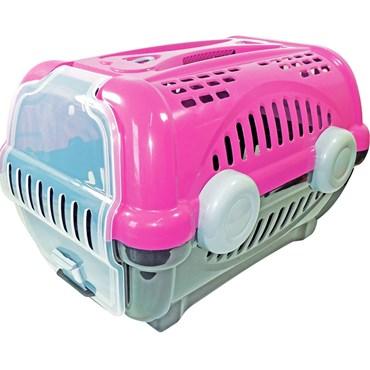 Caixa de Transporte Luxo Número 3 Rosa - Furacão Pet