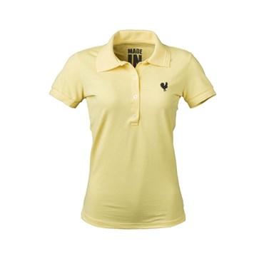 Camisa Polo Feminina Amarela - Made In Mato