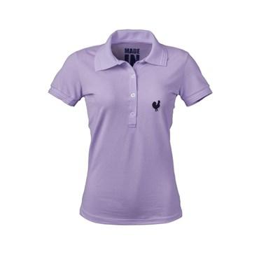 Camisa Polo Feminina Lilás - Made In Mato