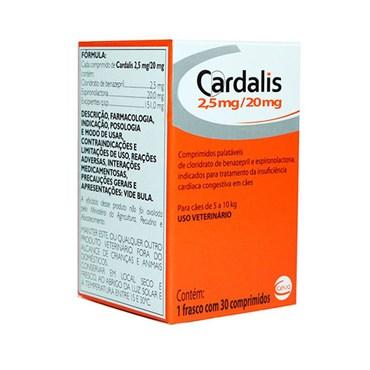 Cardalis 2,5-20mg para Cães de 5 a 10kg - 30 Comprimidos - Ceva