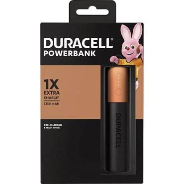 Carregador Portátil Power Bank USB 3350mAh Para Uma Carga - Duracell