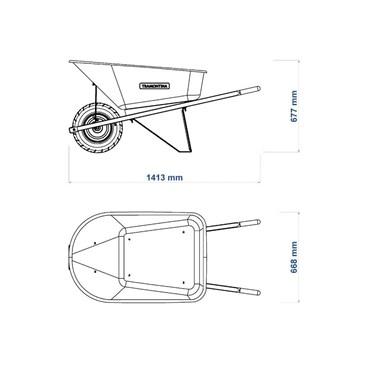 Carrinho de Mão Com Caçamba Extrafunda Plástica Laranja 110 L 77718/421 - Tramontina