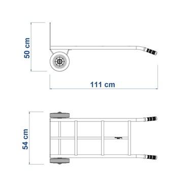 Carrinho de Mão Para Cargas com Chassi Metálico Reforçado Capacidade 180 Kg 77753/235 - Tramontina