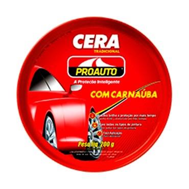 Cera tradicional com Carnaúba Antiaderente ProAuto 200g