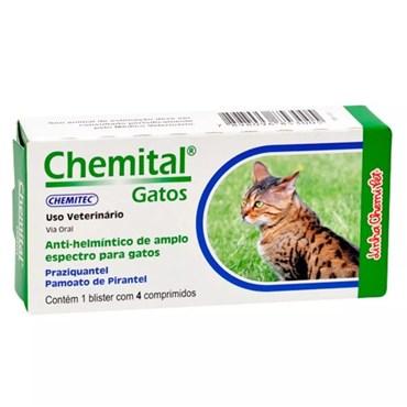 Chemital Anti-Helmético de Amplo Espectro Para Gatos - 4 Comprimidos