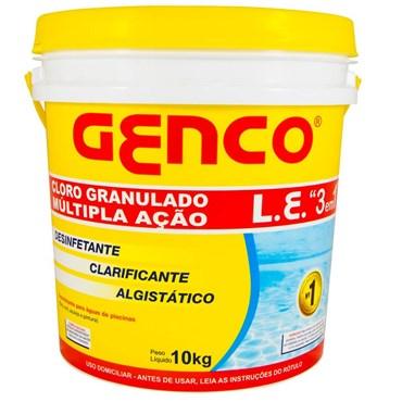 Cloro Granulado L.E Genco 3 em 1 Múltipla Ação - Balde 10kg