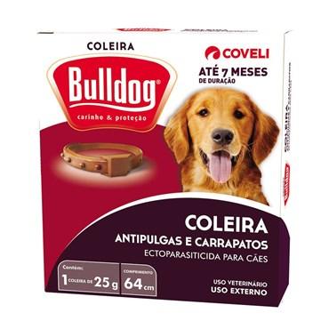 Coleira Bulldog Antipulgas e Carrapatos 25g 64cm