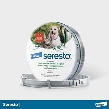 Coleira Seresto Antipulga e Carrapato Pequena Para Cães e Gatos Até 8 kg