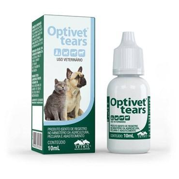 Colírio Lubrificante Optivet Tears Para Cães e Gatos 10ml - Vetnil