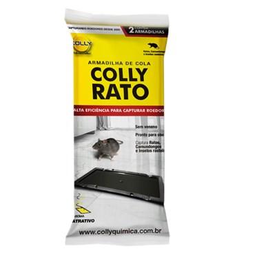 Colly Rato - Ratoeira Adesiva Sem Veneno com 2 Placas de Cola