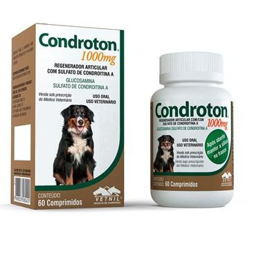 Condroton Pet 1000 mg - Regenerador Articular - 60 Comprimidos