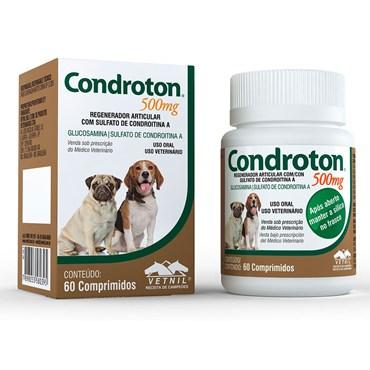 Condroton Pet 500 mg - Regenerador Articular - 60 Comprimidos